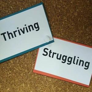 Thriving Struggling Cards